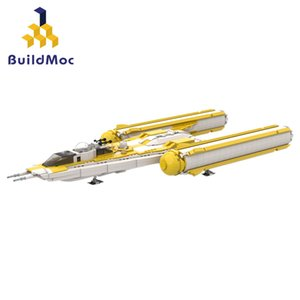 ingrosso giocattoli da guerra-Buildmoc Bricks Yellow Y Wing Starfighters Warships Model Building Block Giocattolo Gift Bambini Star Series of Wars Movie Q0123