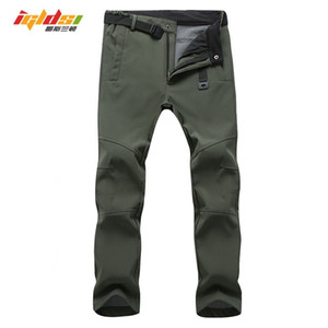 Wholesale winter army trousers for sale - Group buy Stretch Waterproof Casual Pants Men Winter Warm Fleece Shark Skin Long Trousers Sweatpants Men s Tactical Army Work Pants S XL