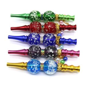 Wholesale night filter for sale - Group buy Night Luminous Beads Cigarette Holder Metal Pendant Multicolor Hookah Filter Tips Detachable Smoking Pipe Reusable Hookah Shisha zc L2
