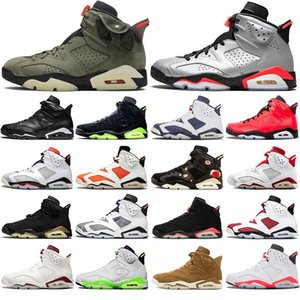 Wholesale harvest gold for sale - Group buy Hot Jumpman s Basketball Shoes Travis Scotts Carmine Infrares Reflections of Champion Golden Harvest Mens Trainers Sport Sneakers US