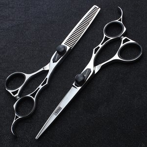 knallt zerkleinert großhandel-Sharonds Friseurschere Zoll Schnitt Effilierschere Friseur Haircut Schere Set Cut Bangs Hair Salon Dedicated
