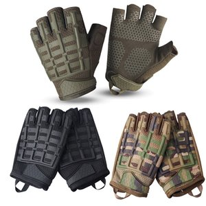 Wholesale motocycle sport resale online - Outdoor Sports Motocycle Cycling Gloves Paintball Airsoft Shooting Hunting Tactical Half Finger Gloves NO08