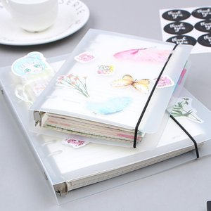 Wholesale a5 binders resale online - A5 A6 Spiral Notebook Cover Loose Diary Coil Ring Binder Filler Paper Seperate Planner Receive Bag Card Storage1