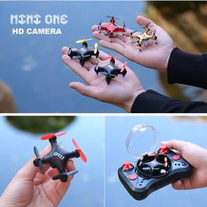 Wholesale wifi pocket resale online - Mini Drone with HD camera Pocket Wifi Rc Quadcopter Selfie Foldable dron Children outdoor indoor toys