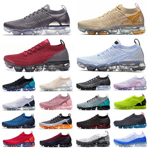 sapatos esportivos de cor-de-rosa venda por atacado-vapormax vapor max Vast Grey Sportswear CPFM x Athletic Running Shoes Oregon PRM Smile Gold Orange CNY Sneakers Mens Women Sports Trainers