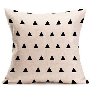 Wholesale black white sofa covers for sale - Group buy halloween Christmas black white pillowcase geometry Cushion covers Cotton linen pillow cover for Sofa bed Nordic Throw Pillow case GWC3483