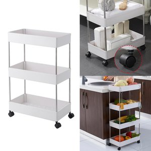 Wholesale mobile shelving for sale - Group buy Storage Cart Mobile Shelving Unit Organizer Slide Out Storage Rolling Utility Cart for Kitchen Tiers