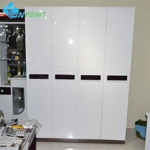 Wholesale glossy white film for sale - Group buy 0 x3M White Glossy Stickers Muraux Desktop Wardrobe Decorative Film PVC Self Adhesive Wallpaper Cabinet Waterproof Wall Sticker