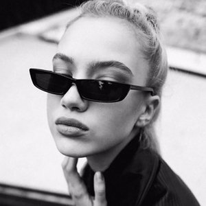 Wholesale personalized sunglasses resale online - Trendy new style Sunglasses Ladies Square small frame personalized fashion sunglasses