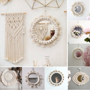 Wholesale hanging bathroom resale online - Mirror Bohemia Creative Wall Hanging Mirror Home Decor Fashion Modern Art Decoration Vanity Makeup Mirror for Bedroom Bathroom designs