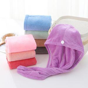 Shower Caps For Magic Quick Dry Hair Microfiber Towel Drying Turban Wrap Hat Caps Spa Bathing Caps ST273