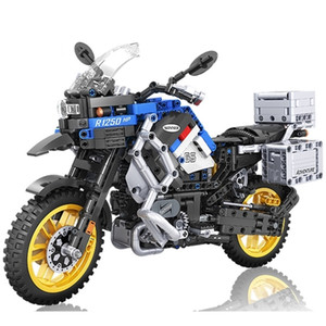 Wholesale kit motorbikes resale online - Technic Motorcycle car Model building blocks Speed Racing car City Vehicle MOC Motorbike chopper bricks Kits toys for children X0102