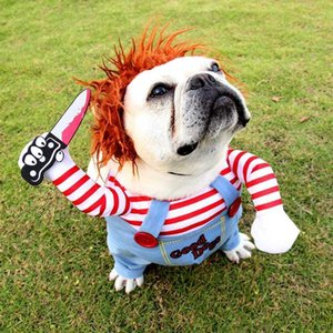 ingrosso media complessiva-Parrucca di costume da compagnia di Halloween Pet Medium Big Great Dog Tuta Tuta Pet divertente vestiti Cosplay1