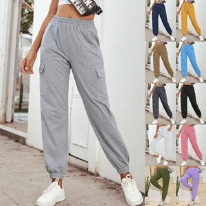 Women Designer long pants Stretch Fabric Super Quality Side Pockets Outdoor Sports Trousers ladies casual clothes New