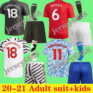 Wholesale soccer jersey shirts resale online - Adult suit kids FERNANDES soccer Jersey kids kit POGBA RASHFORD kids kit shirt shirt KIDS SCOKS