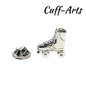 Wholesale roller skating for sale - Group buy Brooch Lapel Pin For Men Pins and Brooches Roller Skates Lapel Pin Badge Jewelry Broche de la solapa By Cuffarts P102171