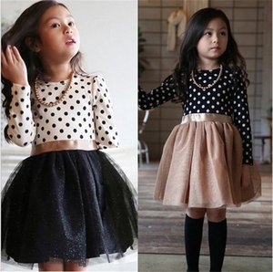 Wholesale clothes for girls resale online - Autumn Baby Girls Long Sleeve Dress For Kids Polka Dot Dress Wedding Birthday Party Vestidos Year Children Winter Clothing