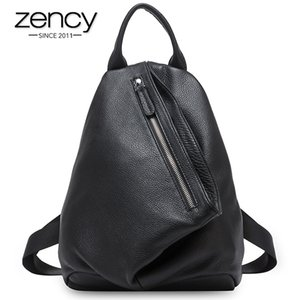 Wholesale retro schoolbag resale online - Zency Retro Women Backpack Soft Genuine Leather Classic Large Capacity Knapsack Travel Bag Anti Theft Hidden Schoolbag For Girls