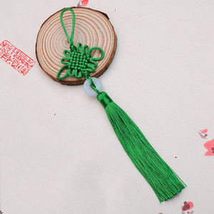 colores jade al por mayor-8 colores Lucky Chinese Knots Pretty Jade Decor DIY Plait Handicraft Accesorios para colgar Moda Decoraciones de interiores CCE4252