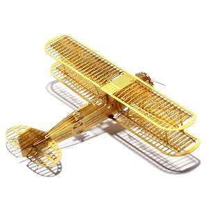 Wholesale metal airplanes toys for sale - Group buy 1 Boeing Model A Scale Brass Etched Model Kit Airplane D DIY Metal Puzzle Miniature Toy Adult Hobby Splicing Science Y200421