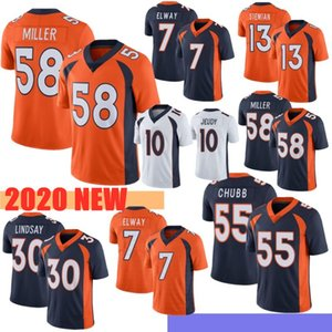 2020 30 Phillip Lindsay 10 Jerry Jeudy 3 Drew Lock Mens 58 Von Miller Jerseys 55 Bradley Chubb 4 Keenum 13 Siemian 5 Flacoo