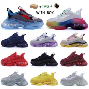 sapatas do paizinho venda por atacado-2020 Designer Triple S Shoes Clear Bubble Midsole Men Triple S Sneakers Increasing Leather Dad sapatos balenciaga balenciaca balanciaga