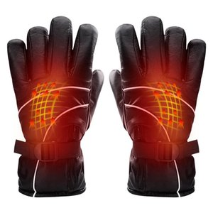 Wholesale motorcyle gloves resale online - Heated Gloves Electric Men Women Motorcyle Cycling Heating Thermal Gloves For Outdoor Skiing Cycling Winter Outdoors