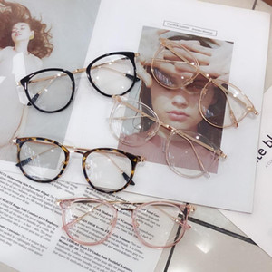 Wholesale glasses computers for sale - Group buy 1pcs Retro Anti Blue Ray Computer Glasses Women Round Eye Glass Men Blue Light Blocking Fashion Eyewear Optical Frames A96568