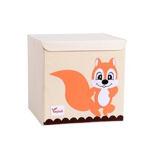 Wholesale toy organize for sale - Group buy Hot Childrens Fabric Toy Storage Bins Foldable Oxford Cloth Cube Box for Kids inch Room Tidy Organizes with lid storage box C0116