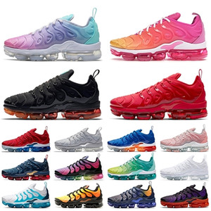 Wholesale pastel color lace for sale - Group buy Cheap New Tn Plus Women Cushion Vapmaxpor Sneakers Mens Running Shoes size Pastel Mix Color Pink Black Red Tns mens sports trainers