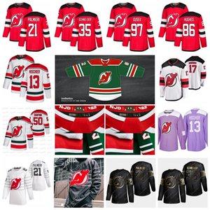 Corey Crawford New Jersey Devils 2021 Reverse Retro Jersey Jack Hughes Gusev P.K. Subban John Hayden Hischier Schneider Palmieri Greene