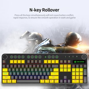 Wholesale mechanical keyboard blue resale online - Magic Refiner Wired Mechanical Keyboard Keys Mixed Light Gaming Keyboard with Mechanical Blue Switch Gaming