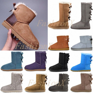 Wholesale sneakers high heels resale online - 2021 designers snow boots women classic with fur shoes womens girl lady winter bow knee high flat sneakers ankle platfojNS8