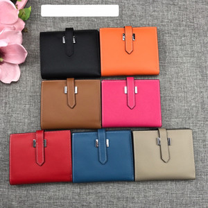 Wholesale women small wallets resale online - Top quality espom Short Wallets Whole Leather Women Card holders Purse Bags fashion Cowskin Genuine leather come with box Small Bag