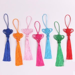 Wholesale heart textile resale online - 10pcs Love Heart Chinese Knot Tassels Diy Pendant Jewelry Home Textile Curtain Garment Sewing Macrame Decoration Craft Tassels H jllphd