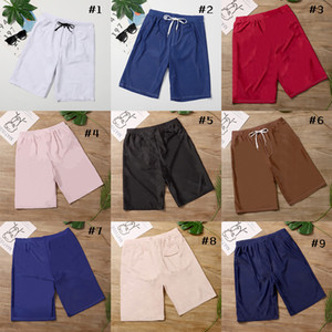 Beach pants New fashion men's shorts casual plain board shorts summer style men's beach swimming shorts high quality 9 colors optional