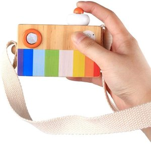Wholesale toy prism kaleidoscope for sale - Group buy Cartoon Mini Wooden Camera Toy with Multi Prism Kaleidoscope Pictures Lens Portable Camera for Children Toddlers