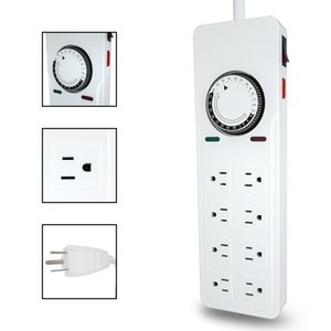 Wholesale day timers resale online - 7 day heavy duty digital programmable energy saving timer switch FD60 U6 V Hz dual sockets indoor use for electrical appliances