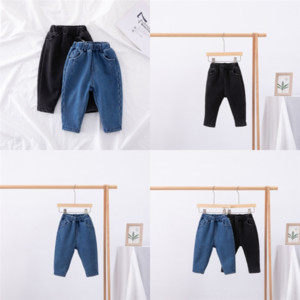 Wholesale boy jeans for sale - Group buy P2iuZ w Thicken Fashion Baby Kids jeans Trousers short child Keep warm yrs Brand designer Girls Jeans Luxury Children Boys jeans Ripped