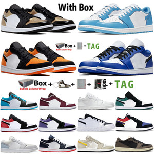 Wholesale retro air trainer resale online - 2020 With Box Jumpman Low s UNC Obsidian Mens Basketball Shoes Travis Scotts Paris Hyper Royal Airs Trainers Retro Sports Sneakers