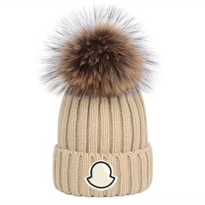 Wholesale thick girls resale online - Adults Thick Warm Winter Hat For Women Soft Stretch Cable Knitted Pom Poms Beanies Hats Womens Skullies Beanies Girl Ski Cap Beanie Caps