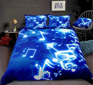 Wholesale crib set music for sale - Group buy Music Duvet Cover Set Musical Notes Bedding Blue Music Themed Quilt Cover Queen Bed Set Home Textiles Blue Teens Dropship