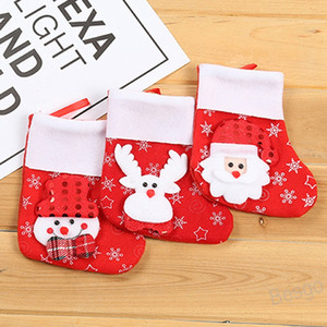 Wholesale apple sock for sale - Group buy Christmas Socks Christmas Stocking Xmas Gifts Bag Christmas Ornament Apple Bags Santa Snow Elk Party Pendant Decorations BH4337 WXM