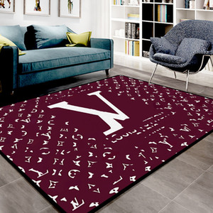 Wholesale cream colored resale online - Nordic Parlor Home Rugs Creative Designs Letter Pattern Water washing Carpet European Style Hot Sale Mat High Quality Living Room Rug
