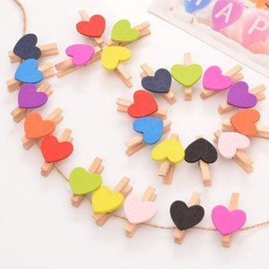 Wholesale cute wooden pegs for sale - Group buy Cute Wooden Heart Shape Clothespins Clip cm Mini photos Clips Creative DIY Hand Drawing Paper Peg LX3406