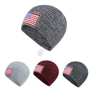 Wholesale ear muffs for adults for sale - Group buy With US Flag Label Knit Hat Winter Warm Beanies Adults Knit Skull Beanie Cap Outdoor Hats Headgear Ear Muff For Men Women Sale D92406