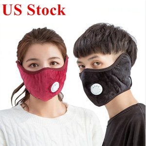 Wholesale mouth covering mask resale online - Warm Face Mask Cover with PM2 Thick Fashion Outdoor Mouth Masks Cotton Breathing Valve Winter Mouth Muffle Earflap Cover Mask