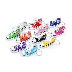 Wholesale foot chain men for sale - Group buy Key Chain Simulation Mini Canvas Pendant Bicycle Motorcycle Foot Support Small Board Shoes