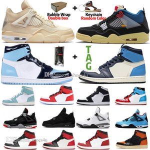 Sail Black Cat Bred 4 4s Guava Ice Twist White Cement What The Mens Basketball Shoes 1 1s Travis Scotts Obsidian UNC Royal Toe Women Sneaker