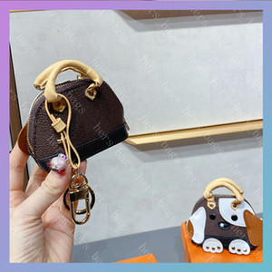 Wholesale pu dog resale online - Women Luxurys Designers Bags Mens Wallet Men Credit Card Holder Coin Purse Key Pouch Wallets Shell Bag With Flower Dog Fashion